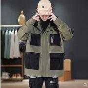 【大きいサイズM-5XL】ファッション/人気ジャケット♪ブラック/ダークグリーン2色展開◆