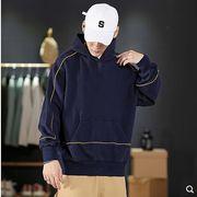 【大きいサイズM-5XL】ファッション/人気トップス♪ダークブルー/ダークグレー2色展開◆