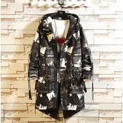 メンズコート ジャケット スタジャン コーチジャケット カジュアル ブラック/レッド2色
