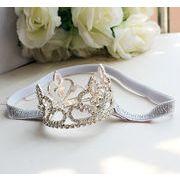 ヘッドドレス ヘアアクセサリー 髪飾り キッズ 女の子  プリンセス 王冠 小枝 ボンネ カチューシャ 可愛い