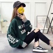 2019秋新作★韓国風★レディースファンション★ 長袖 スウェット★
