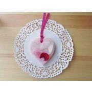 ボタニカル アロマワックスサシェ シャイニーピンク ハート型 薔薇の花びら ピンクキッスの香り