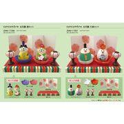 「受注締切9/26」「ひな祭り」concombre お花雛 猫セット&文鳥セット