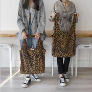バッグ トートバッグ レオパード 韓国 ファッション キャンパス 帆布 大容量