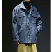 【大きいサイズM-5XL】ファッション/人気コート♪ブルー/カーキ2色展開◆
