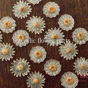 アクリルフラワーパーツ 3種 10個 花/パーツ/材料/YM1-0958