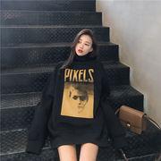 秋冬新作 731486 大きいサイズ 韓国 レディース ファッション 裹起毛   パーカー   LL-4L