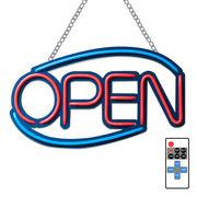 看板 LED ネオン サインボード リモコン付属 店舗用 オープン OPEN 310mm×510mm