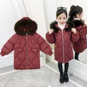 防寒コート 厚手 中綿コート 女の子 長袖 子供服 キッズ服 冬物 カジュアル系