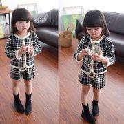 春秋 子供服 コート+短ズボン 女の子 可愛い 長袖 2点セット スポーツウェア キッズ