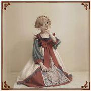 かわいい少女 レースワンピース lolitaワンピースロリータ 萌え係 ワンピース キツネ インク風