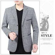 チェスターコート チェック柄 ビジネスジャケット アウター メンズコート テーラードジャケット 紳士用