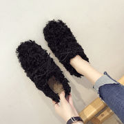 女靴 新しいデザイン 秋 靴 何でも似合う ネット レッド フラット ふわふわシューズ