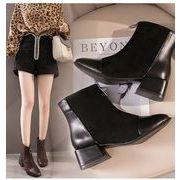 全2色 韓国ファッション 前ろジッパー ス ショートブーツ カジュアルシューズ 靴