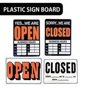 【店舗ディスプレイ】AMERICAN プラスティックサインボード【OPEN CLOSE 両面】