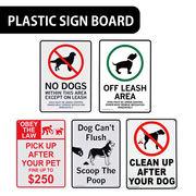 【犬の後始末】AMERICAN プラスティックサインボード【糞の片付け、フリーランスペース他】