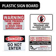 【監視中】AMERICAN プラスティックサインボード【立入禁止、不審者警戒!!他】