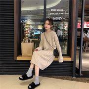 韓国ファッションカジュアル ゆったり ワンピ