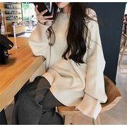 韓国ファッション セーター ゆったり カジュアルテイスト
