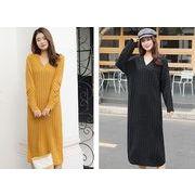 【大きいサイズXL-4XL】ファッションワンピース♪ブラック/イエロー2色展開◆