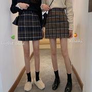 ハイウエスト スカート 女 秋 新しいデザイン 韓国風 アンティーク調 何でも似合う 短