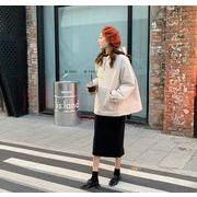 秋冬新入荷★  帽子をかぶる   緩い    韓国ファッション   綿入れ   トレーナー    コート
