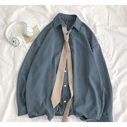 大きいサイズ シャツ レトロ ストライプ トレンド  男性 単体 ブラウス 画像の色