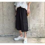 夏   薄 ファッション ゆったりする ス ショートパンツ ブラック