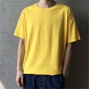 2019 夏 ゆったりする 半袖 Tシャツ ボーイ 男の子ファッション トップスイエロー