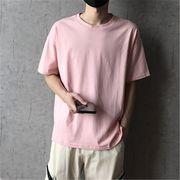 2019 夏 ゆったりする 半袖 Tシャツ ボーイ 男の子ファッション トップス ピンク