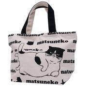 【ランチトート】マツネコ/天ファスナー付きミニトートバッグ/ロゴ