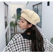 帽子 メンズ レディース 秋冬 暖か かわいい ベレー帽 ニット