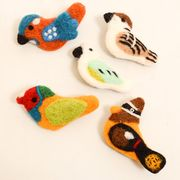 【即納】【Fillil/フィリル】鳥さんたちのフェルトブローチセット2067-0821/11-03