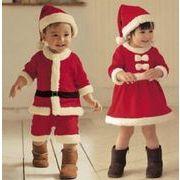 クリスマス衣装 子供服 可愛い 80-100 コスプレ衣装 サンタ コスチューム  オールインワン
