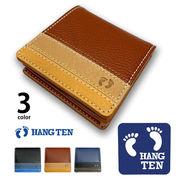 全3色 HANG TEN ハンテン リアルレザー トリコロールカラー ボックス型 コインケース 小銭入れ