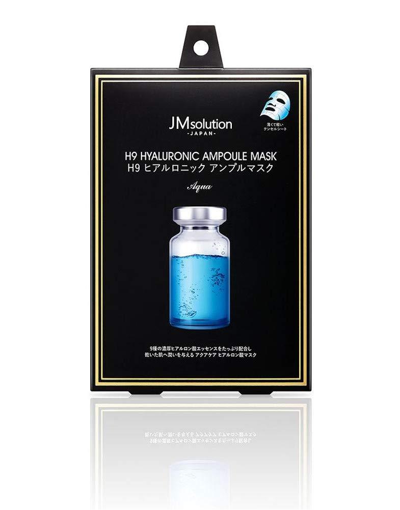サン・スマイル JMsolution H9 ヒアルロニック アンプルマスク アクア 30g×5枚(箱入り)