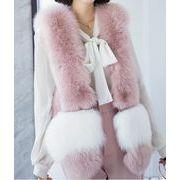 冬 欲しかったあの商品 模造毛皮カジュアル ファーベスト キツネの毛皮 百掛け 防寒 通勤 ショートベスト