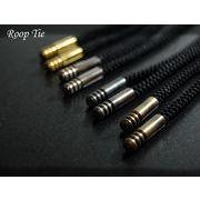 4色から選べるループタイ紐(レーヨン製)/ブラック
