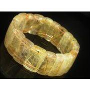 現品一点物 ゴールドタイチンルチル クォーツ バングル 金針水晶 TB15