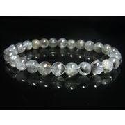 現品一点物 プラチナルチル ブレスレット 白金水晶 数珠 8ミリ 20g Pr51