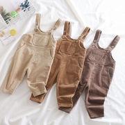 三和 韓国ファッション 韓国子供服 オーバーオール サロペット  コーデュロイ 男女兼用 3色