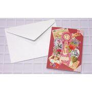 【新商品】Rakka二つ折りヴィクトリアンメッセージカード(封筒付き) RVF7