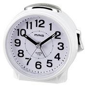 MAG 電子音目覚まし時計「ブルーブライト」(ホワイト)