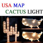【インパクト大】USA MAP & CACTUS LIGHT