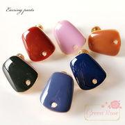 大人カラーのイヤリング金具 全6色 10個 /kanagu356