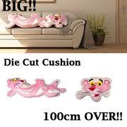 【ふわふわ】Die Cut Cushion Pink Panther【もっちり】