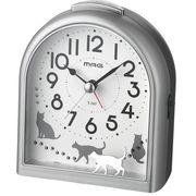MAG インテリア目覚まし時計(銀メタリック)