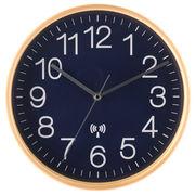 電波掛け時計 プライウッド Φ28cm ネイビー