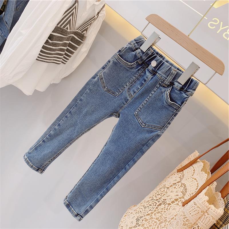 韓国子供服 男女兼用 キッズ プラスカシミア 子供用 トップス ズボン ズボン 加厚 ジーンズ 80-130