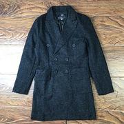 コート 男 春秋 新しいデザイン 韓国風 着やせ 中長スタイル ウールコート 青年 ハン